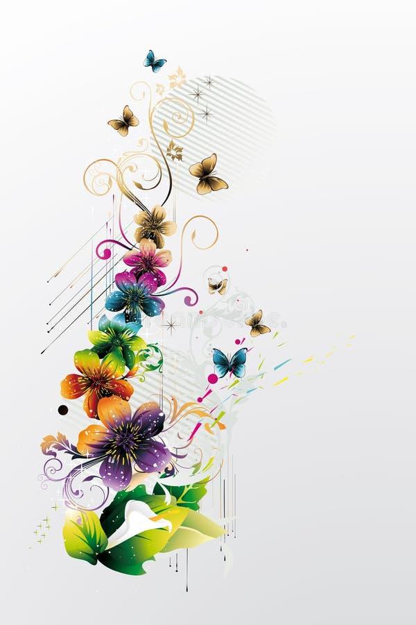 Ilustração floral moderna ilustração stock