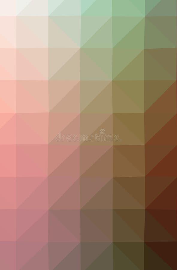 Ilustração fundo vertical poli da laranja do sumário do baixo, o verde, o amarelo e o roxo ilustração royalty free