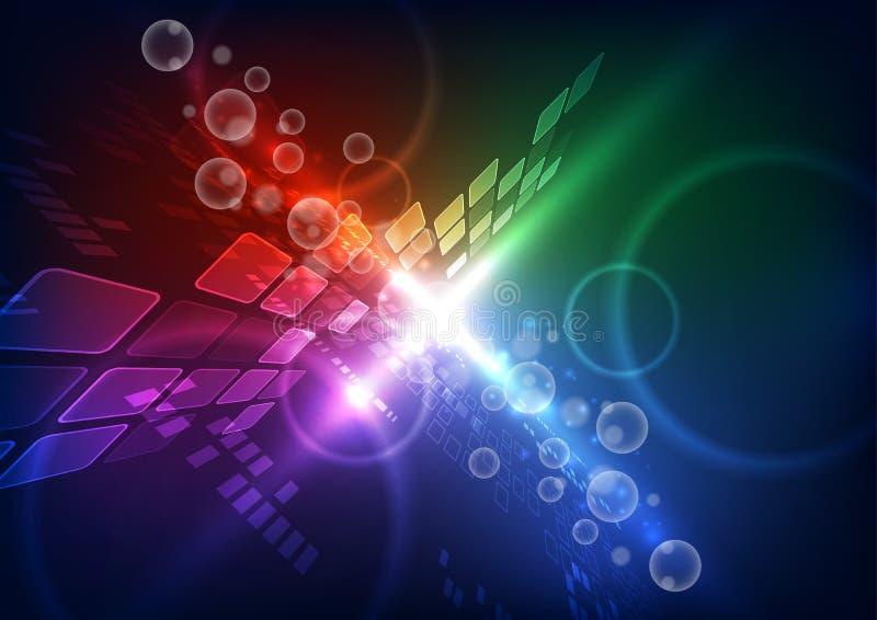 Ilustração futura do fundo da tecnologia das telecomunicações do vetor abstrato ilustração stock