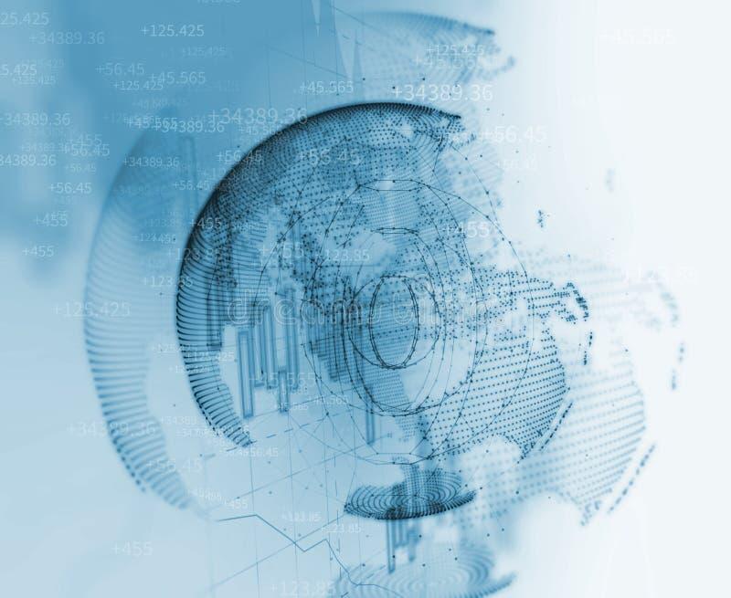 Ilustração futurista do fundo do sumário da tecnologia da terra ilustração royalty free