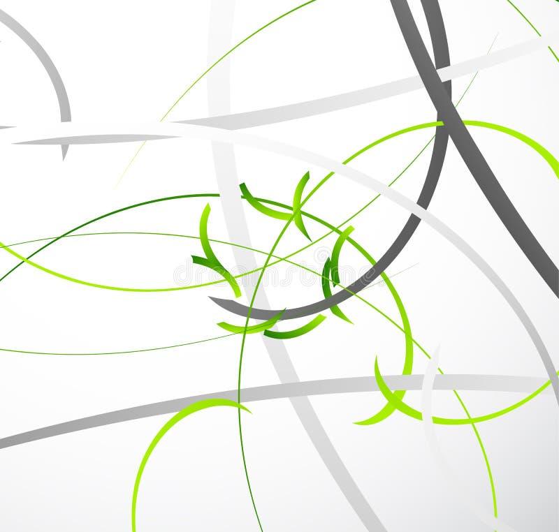 Ilustração geométrica abstrata com linhas dinâmicas aleatórias Resumo ilustração do vetor