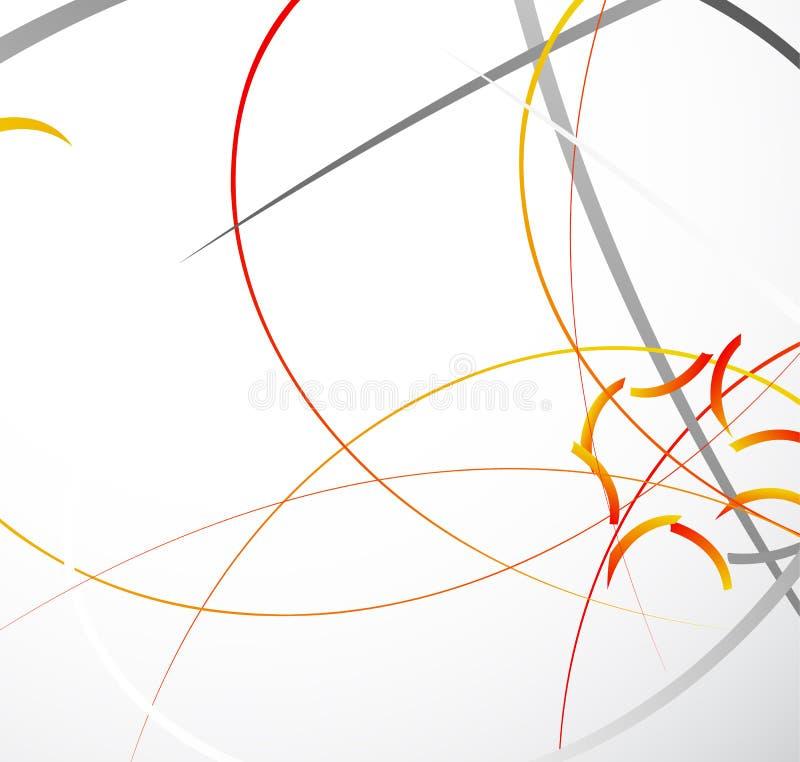 Ilustração geométrica abstrata com linhas dinâmicas aleatórias Resumo ilustração stock