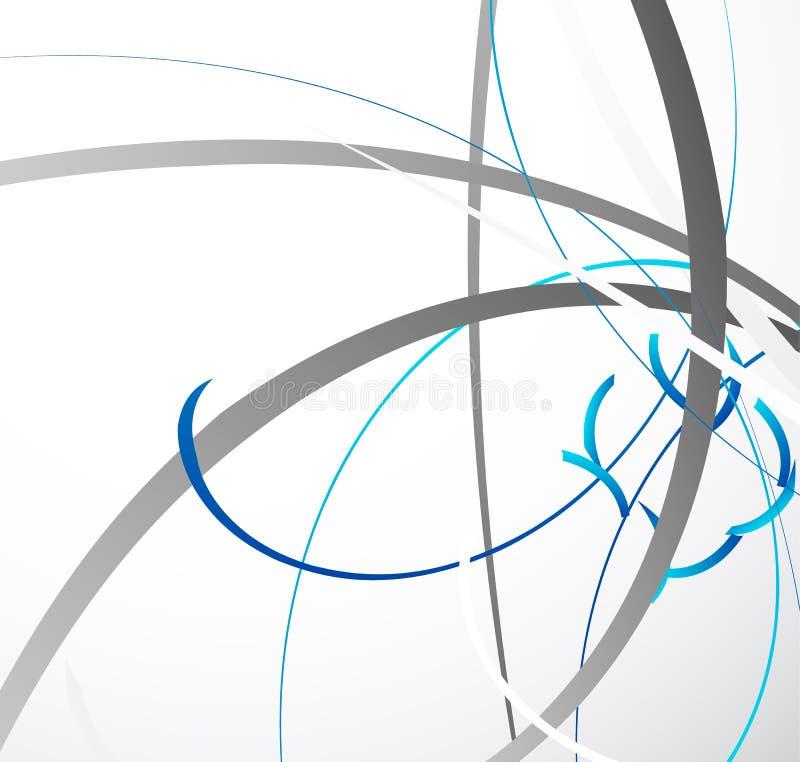 Ilustração geométrica abstrata com linhas dinâmicas aleatórias Resumo ilustração royalty free