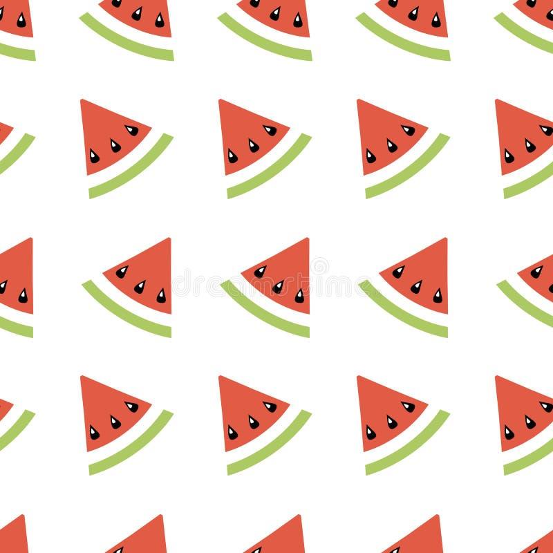 Ilustração geométrica do teste padrão sem emenda do sumário com melões, papel de parede do verão para a impressão de mat ilustração do vetor