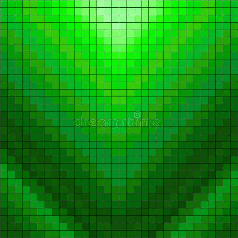 Ilustração geométrica do vetor do fundo dos pixéis verdes ilustração royalty free