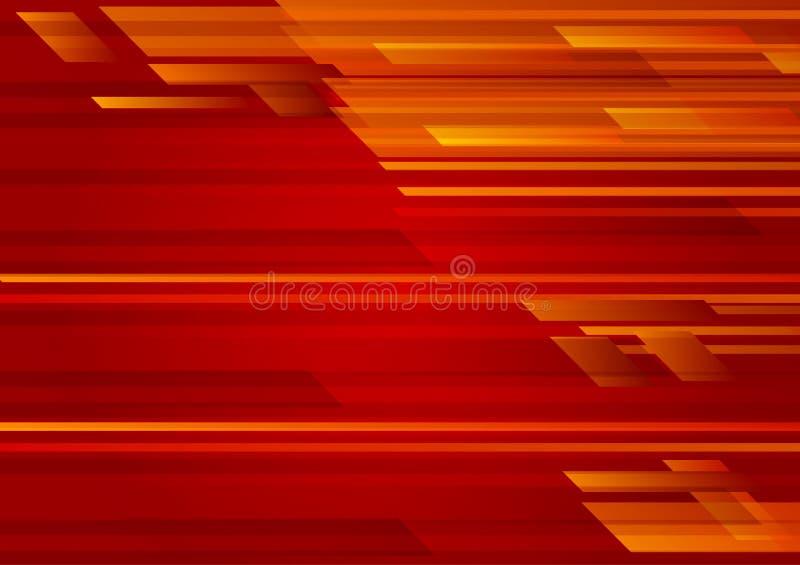 Ilustração geométrica EPS 10 do vetor do fundo do sumário da cor vermelha ilustração royalty free