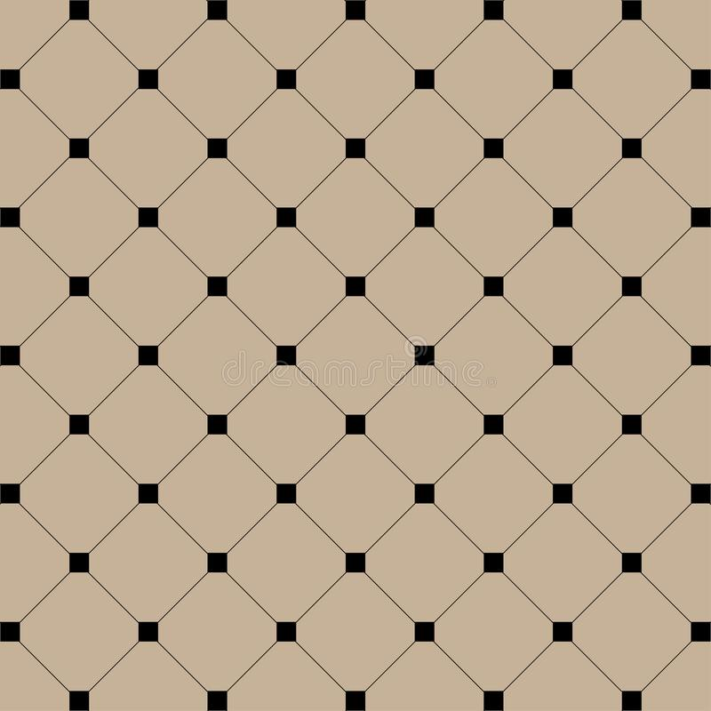 Ilustração geométrica Quadrados pretos com linhas no fundo dos músculos Fundo sem emenda abstrato do teste padrão ilustração stock
