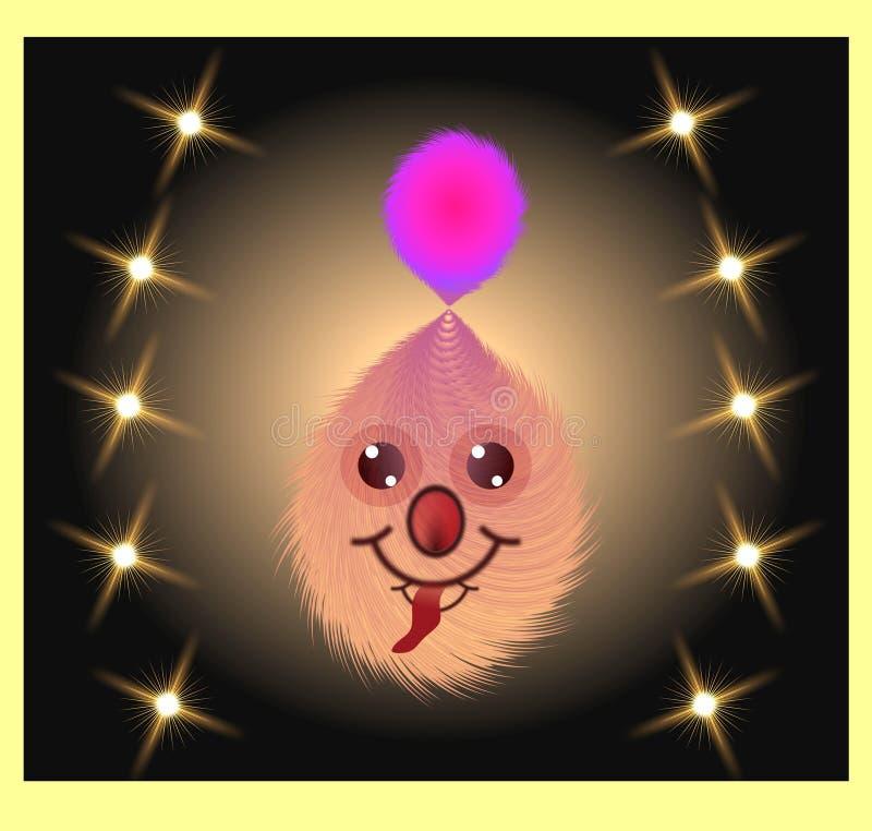 A ilustração gerada por computador colorida do clipart 3d do brinquedo macio da fúria iluminou a imagem ilustração stock
