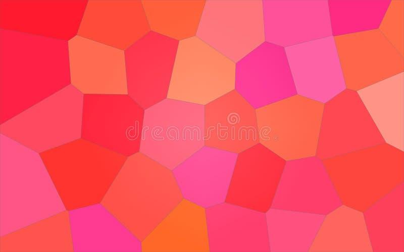 Ilustração gigante brilhante vermelha e cor-de-rosa do fundo do hexágono ilustração do vetor