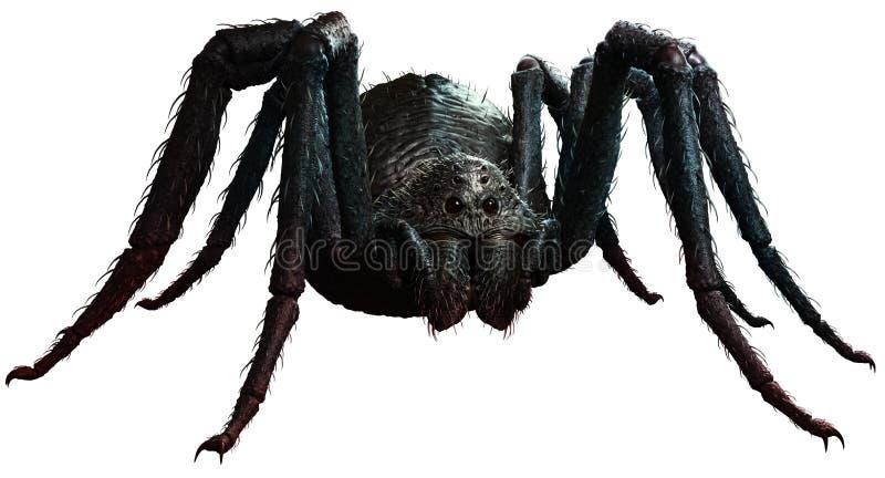 Ilustração gigante da aranha 3D ilustração do vetor
