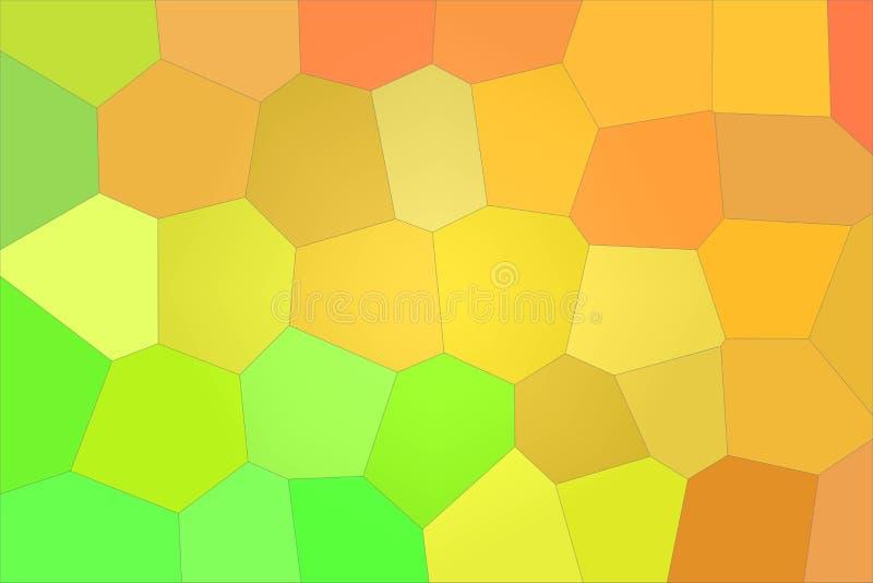 Ilustração gigante do fundo do hexágono dos brights alaranjados e verdes ilustração royalty free