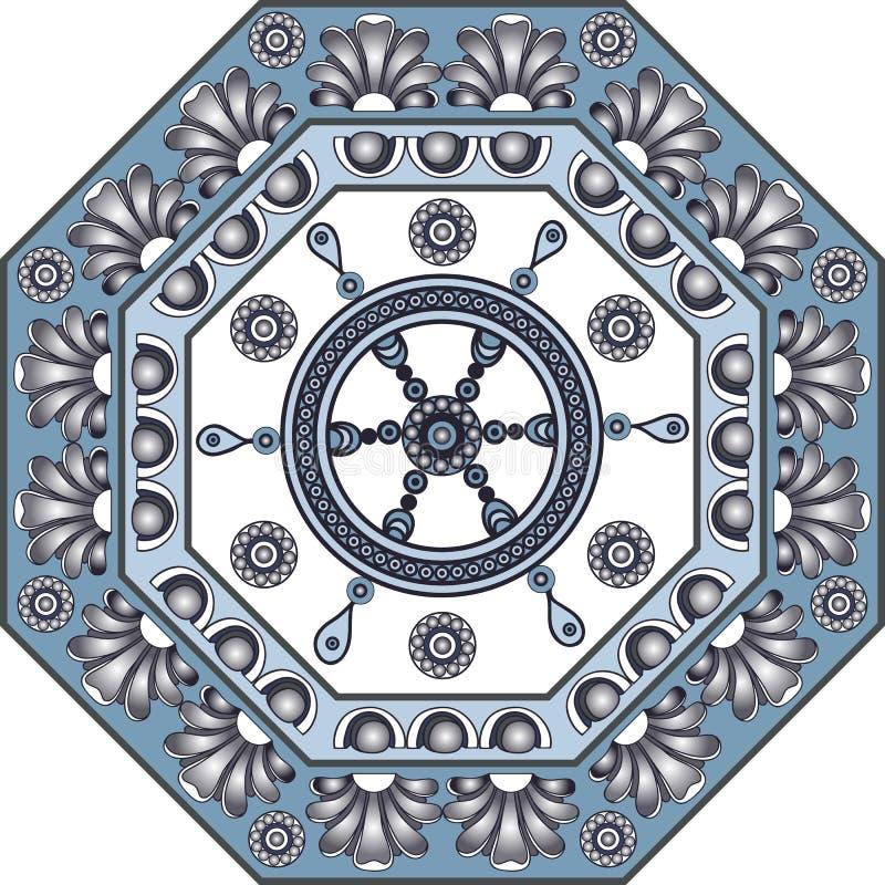Ilustração gráfica com azulejos 8 ilustração do vetor