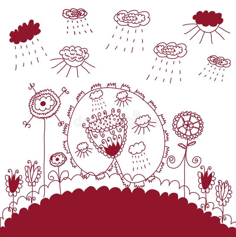 Download Ilustração Gráfica Das Flores Ilustração do Vetor - Ilustração de gráfico, elegante: 12807853