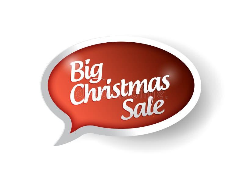 Ilustração grande da bolha da mensagem da venda do Natal ilustração do vetor