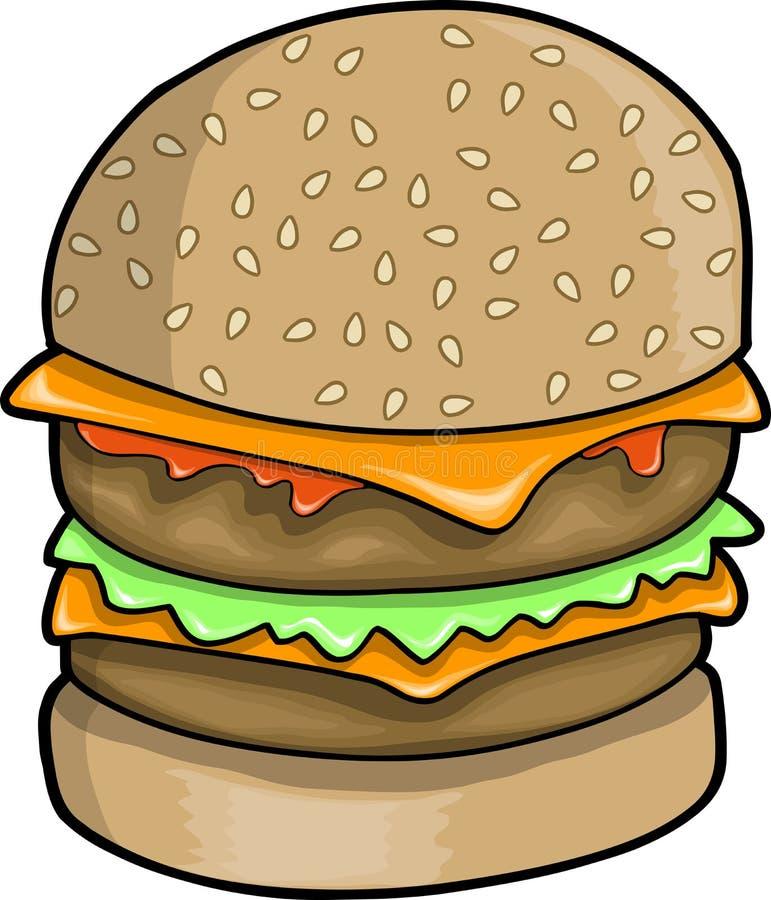 Ilustração grande do vetor do Hamburger ilustração stock
