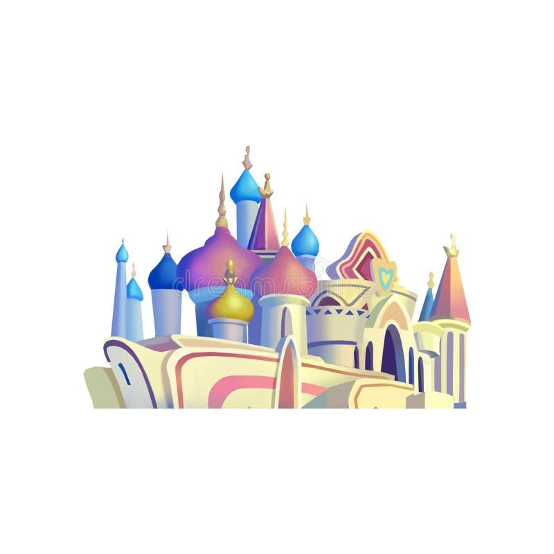 Ilustração: Grupo de elementos: Palácio ilustração royalty free