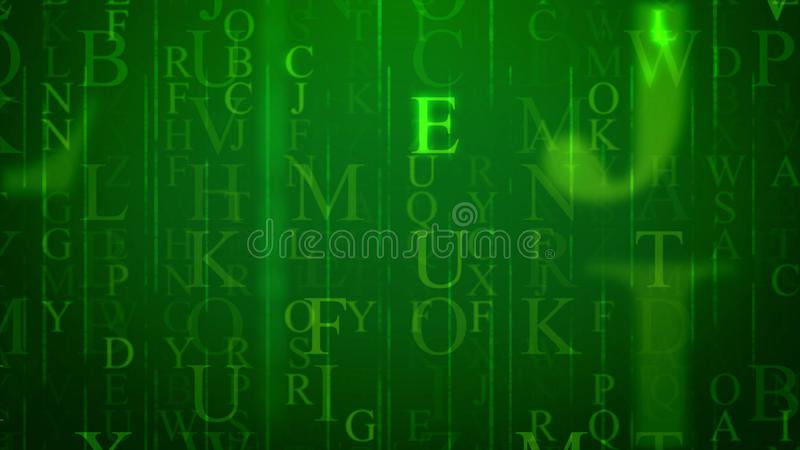 Ilustração holográfica efervescente da letra ilustração stock