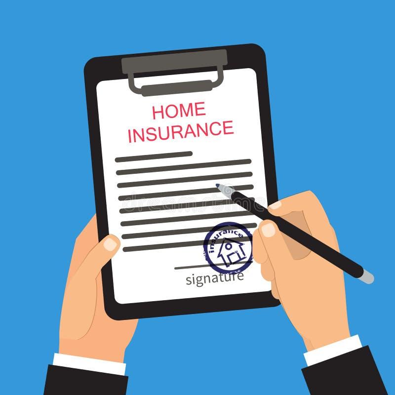 Ilustração home do vetor do seguro ilustração royalty free