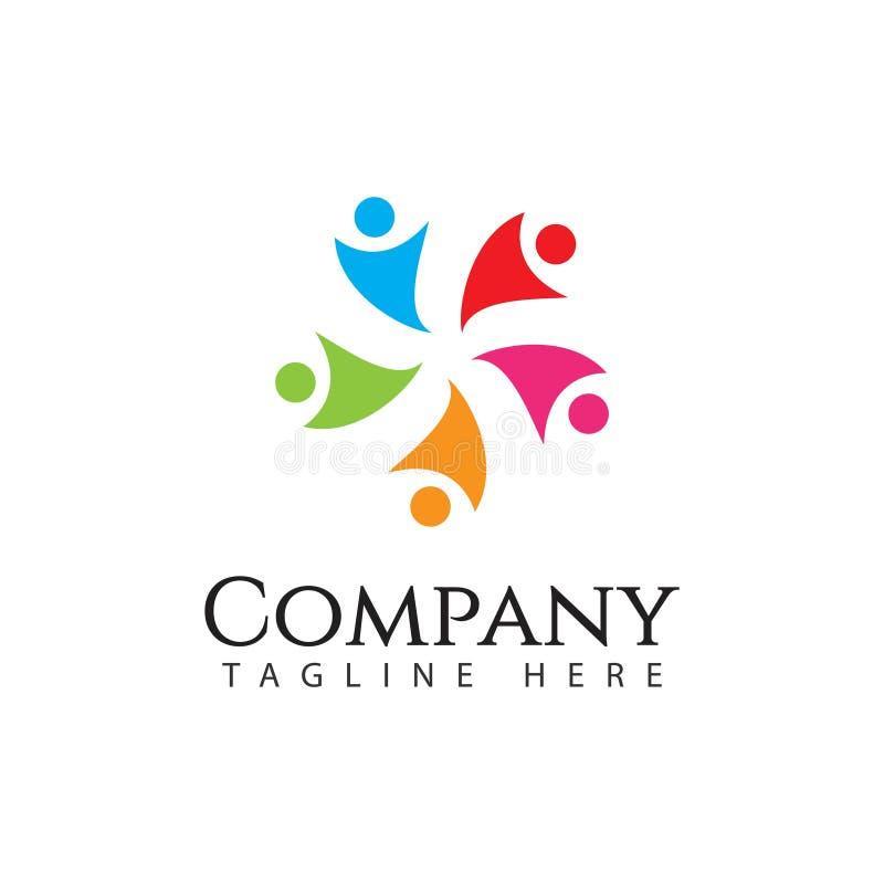 Ilustração humana de Logo Company Vetora Template Design ilustração royalty free