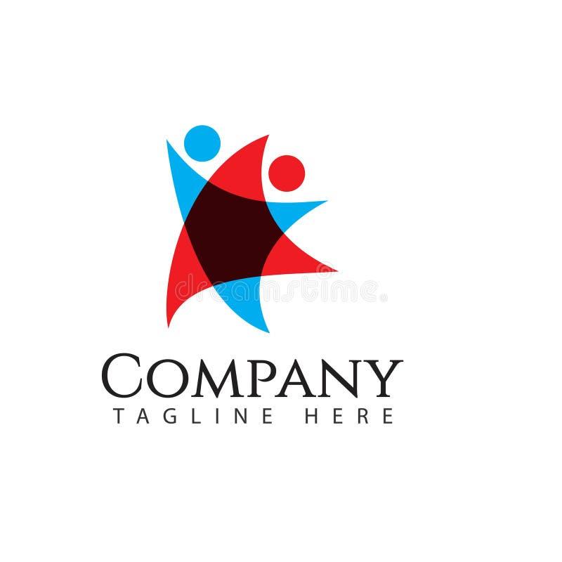 Ilustração humana de Logo Company Vetora Template Design ilustração do vetor