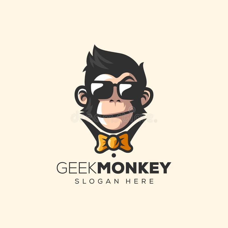 Ilustração impressionante do vetor do logotipo do macaco ilustração do vetor