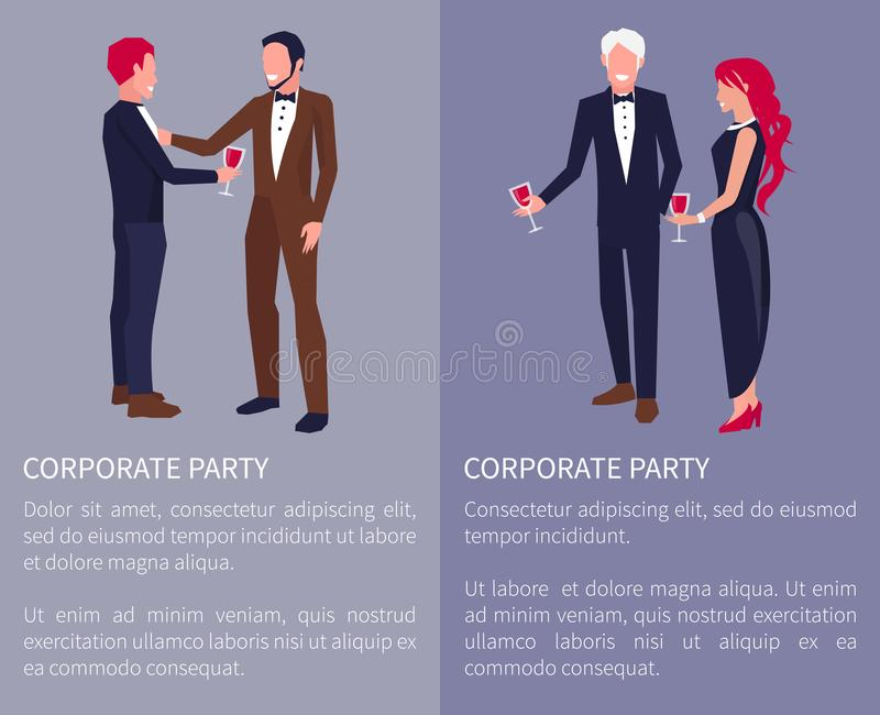 Ilustração incorporada do vetor do visualização do partido ilustração royalty free