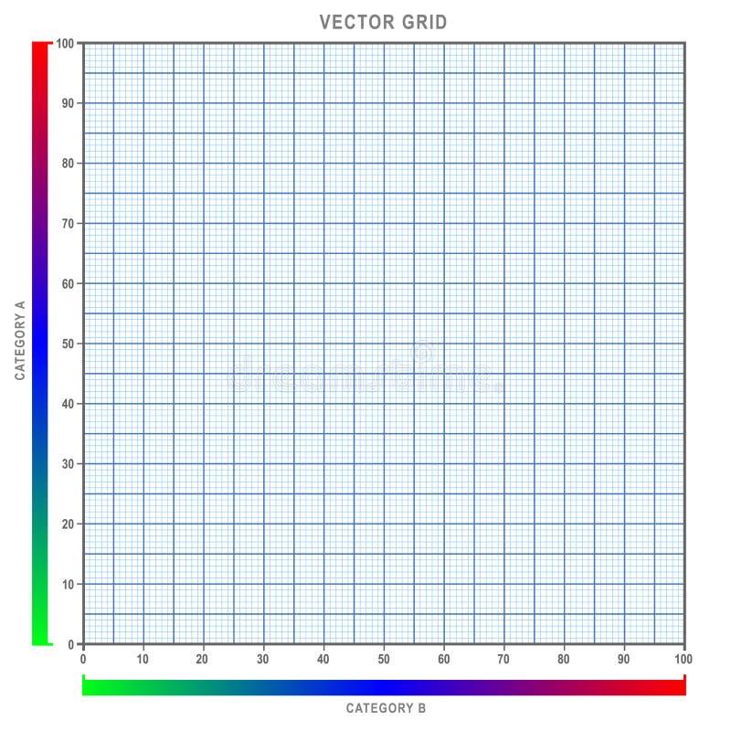 Ilustração infographic do vetor do gráfico da grade, com fácil afiado ver linhas limpas, tons macios e barras corajosas do inclin ilustração do vetor