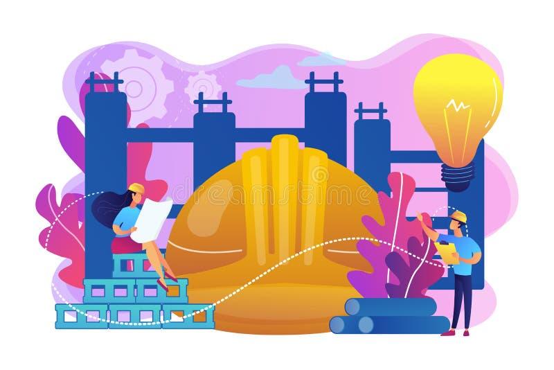Ilustração inovativa do vetor do conceito dos materiais de construção ilustração do vetor