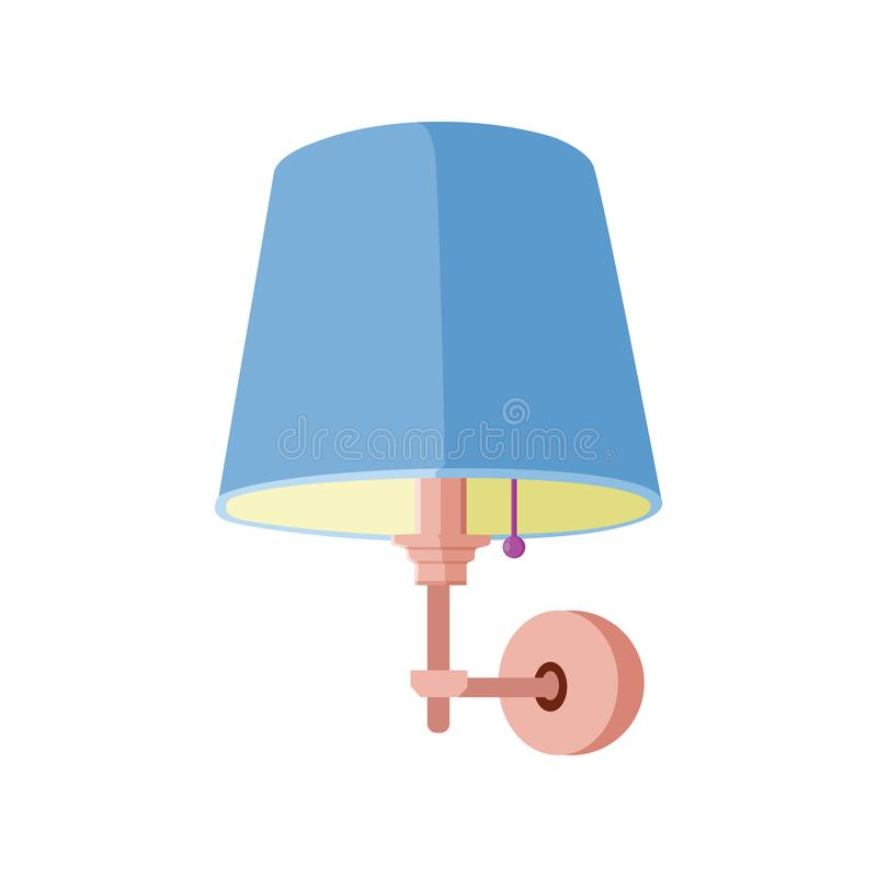 Ilustração interior do vetor da lâmpada de parede ilustração royalty free