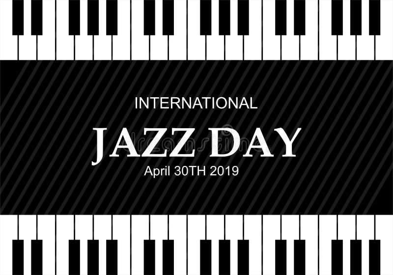 Ilustração internacional do vetor de Jazz Day ilustração do vetor