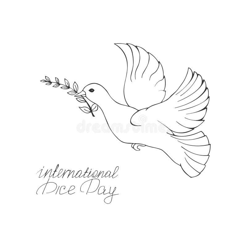 Ilustração internacional do vetor do dia de Pice ilustração royalty free