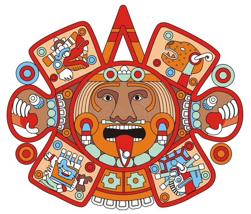 Ilustração maia do logotipo ilustração royalty free