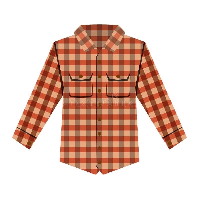 Ilustração isolada camisa do vetor de Cheskered ilustração stock