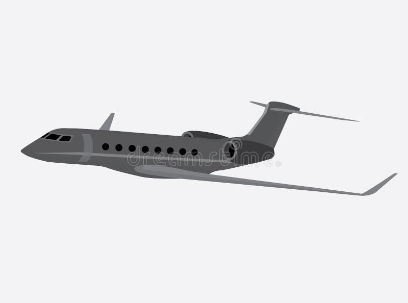 Ilustração isolada cinzenta do vetor dos aviões de negócio fotos de stock royalty free