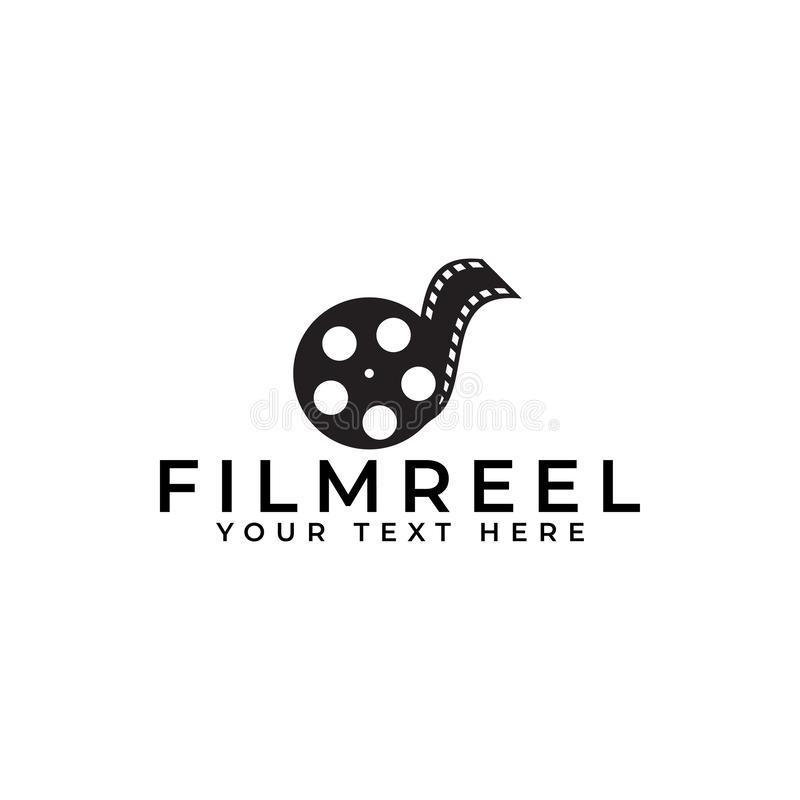 Ilustração isolada de vetor de modelo de design de logotipo de filme ilustração stock