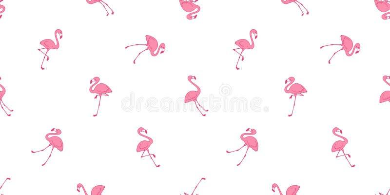 Ilustração isolada do papel de parede da repetição do fundo da telha dos flamingos do rosa do vetor do teste padrão do flamingo l ilustração do vetor