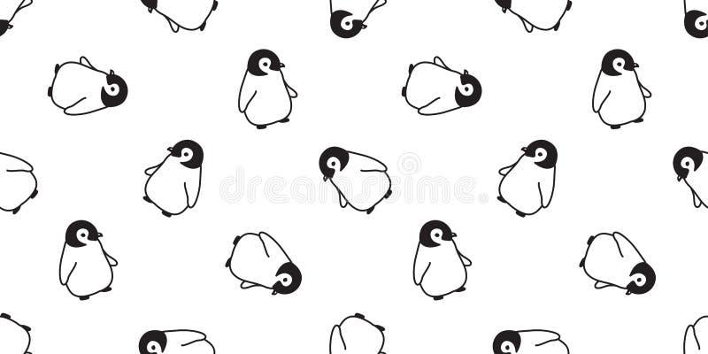Ilustração isolada do papel de parede da repetição do fundo da telha do pássaro dos salmões dos peixes dos desenhos animado ilustração stock