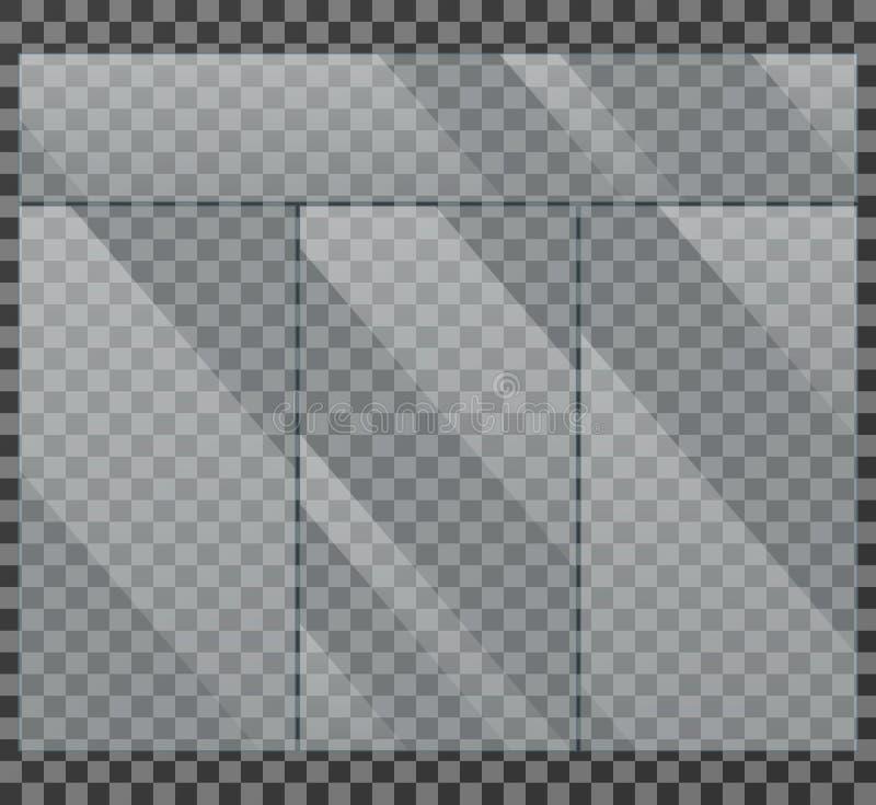 Ilustração isolada do vetor da janela de vidro mostra claro ilustração stock
