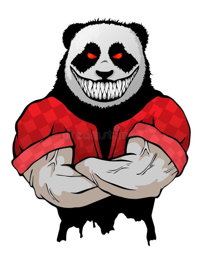 Ilustração isolada do vetor um homem selvagem mau forte da panda ilustração royalty free