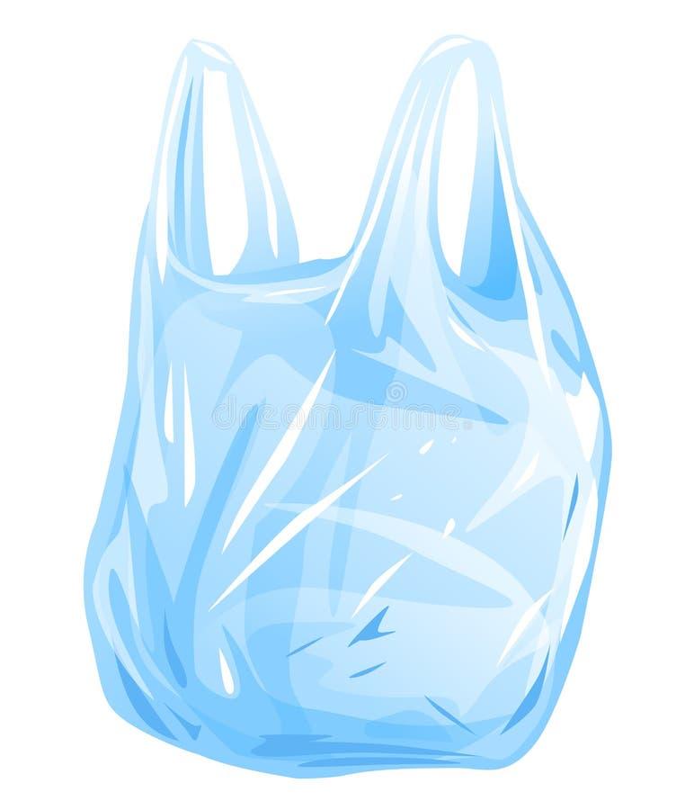 Ilustração isolada saco de plástico ilustração stock