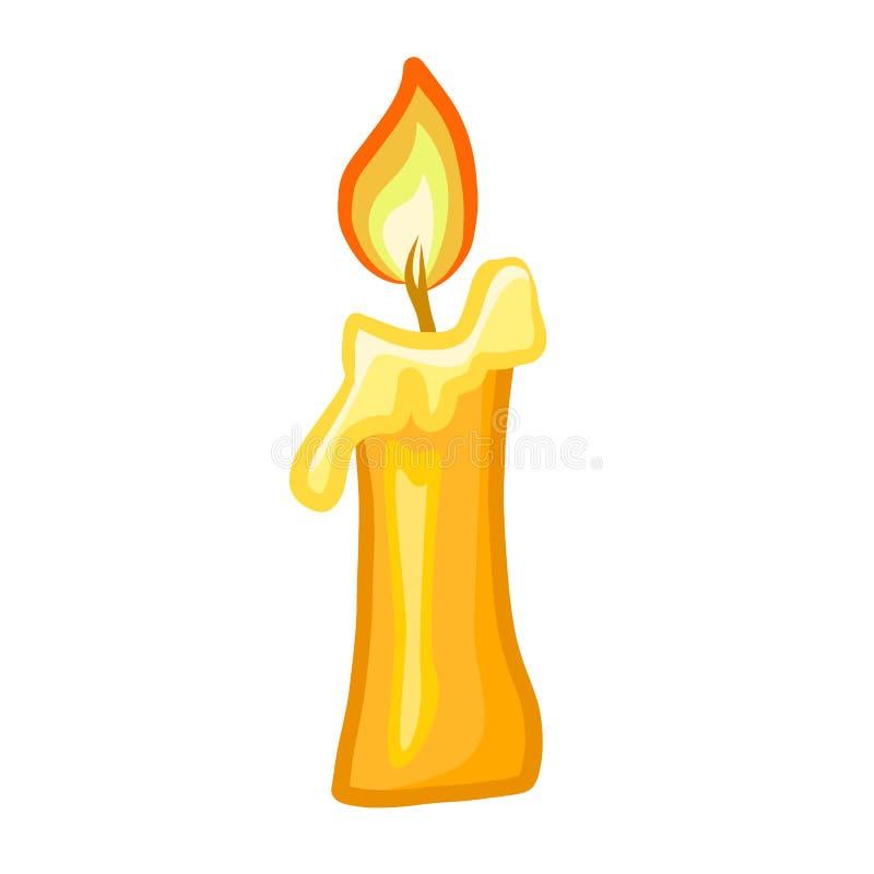Ilustração isolada vela ilustração royalty free