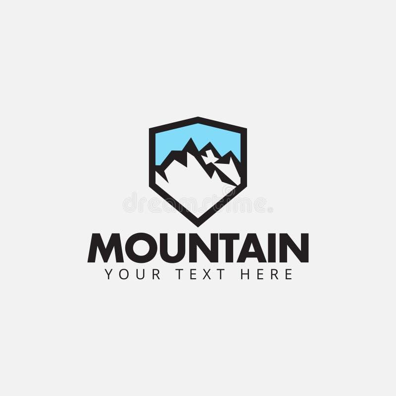 Ilustração isolada vetor do molde do projeto do logotipo da montanha ilustração do vetor
