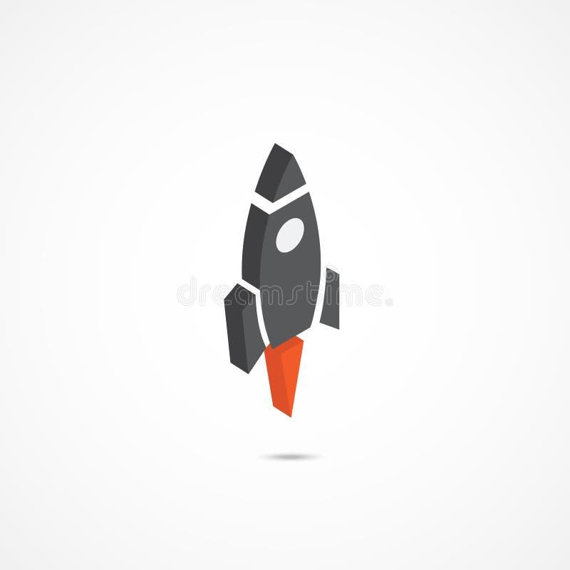 Ilustração isométrica do ícone 3d de Rocket ilustração royalty free