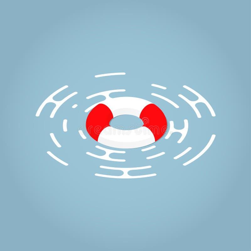 Ilustração isométrica do conceito do boia salva-vidas ilustração royalty free