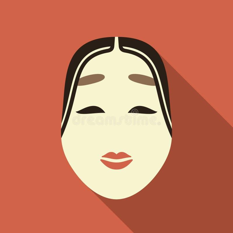 Ilustração japonesa da máscara ilustração royalty free