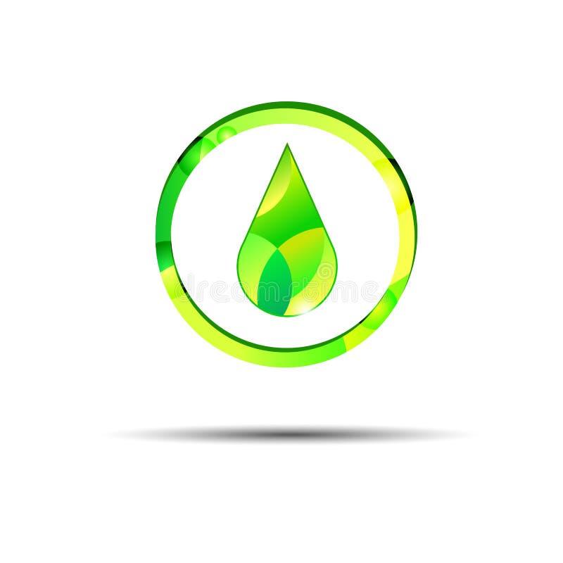 Ilustração líquida do símbolo do amarelo do vetor da gota do óleo ilustração stock