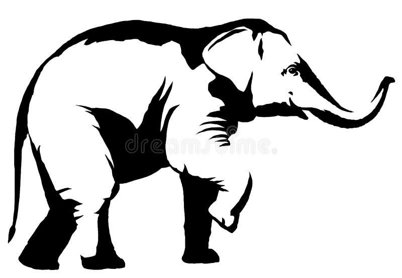 Desenho Preto E Branco Do Elefante Ilustracoes Vetores E Clipart