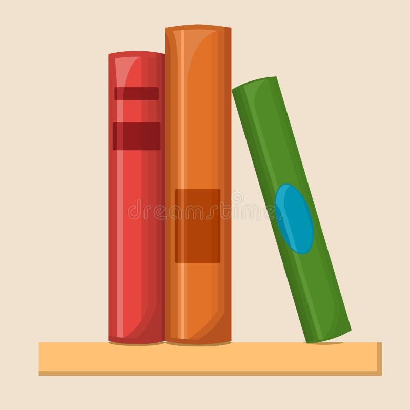 Ilustração lisa da biblioteca ilustração stock