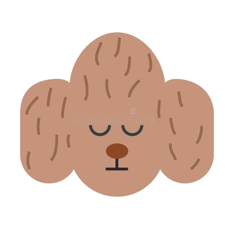 Ilustração lisa da cara do cão s ilustração do vetor