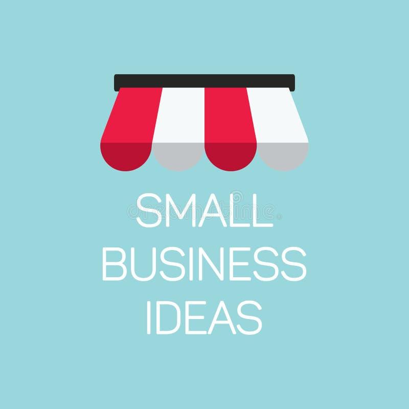 Ilustração lisa da empresa de pequeno porte do conceito, bandeira local da loja sobre ilustração royalty free
